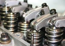 Valve springs and rocker arms form the Bill Elliot #94 McDonald's NASCAR engine