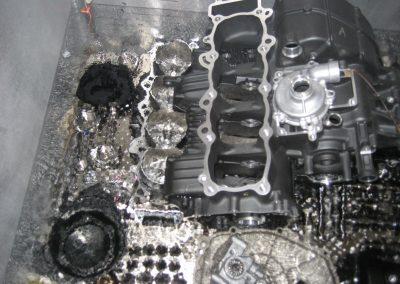 Yamaha R1 Superbike Engine Assembly